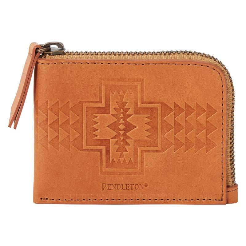 Pendleton Tooled Leather Zip Around Wallet