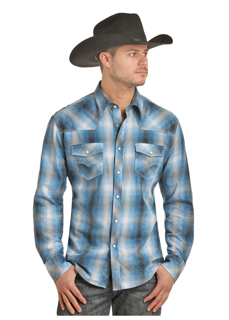 Panhandle Rock and Roll Mens Plaid Shirt