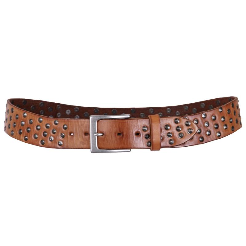 Embrazio Coperto Curved Handmade Womens Leather Belt