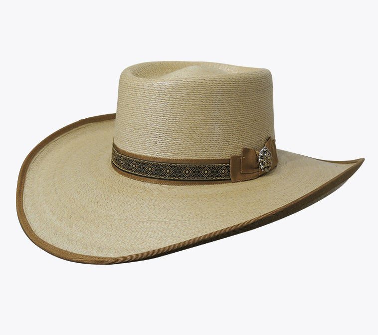 Dallas Hats Tycoon Ladies Cattleman Fine White Palm Hat