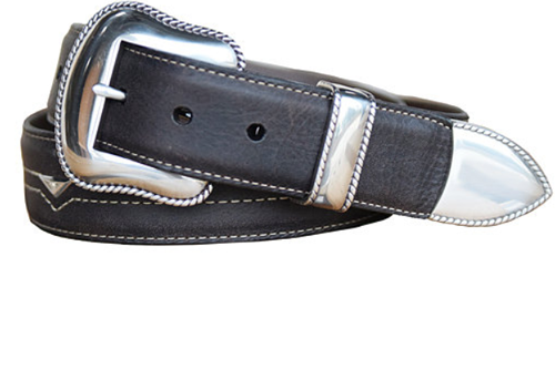 Vintage Bison Men's  Black Jack Belt - VB-6272