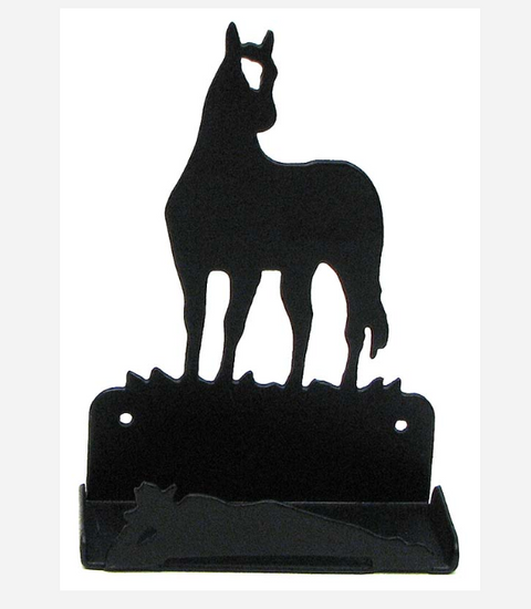 IWGAC Metal Horse Business Card Holder Western Decor