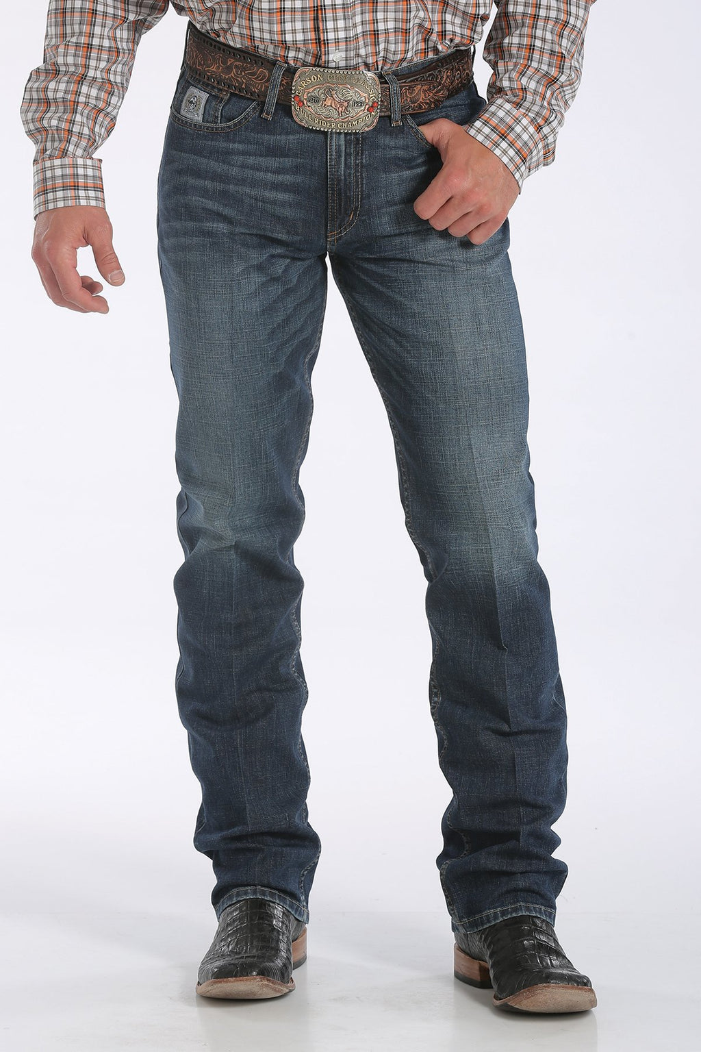 Men's Silver Label Dark Stone Wash Cinch Jeans