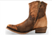 Corral Ladies Abstract Chocolate Tan Lamb Short Booties C1064