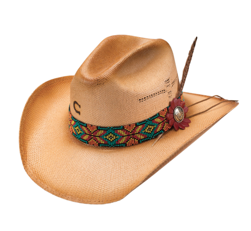 Charlie 1 Horse Gold Digger Straw Hat CSGDR-2134