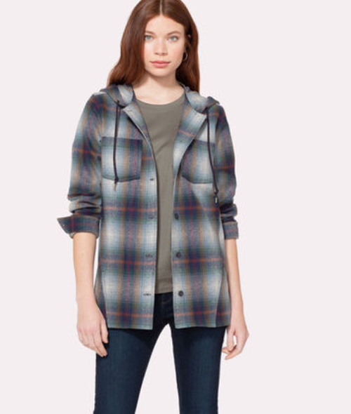 Pendleton Ladies Plaid Wool Hoodie TM245-32130