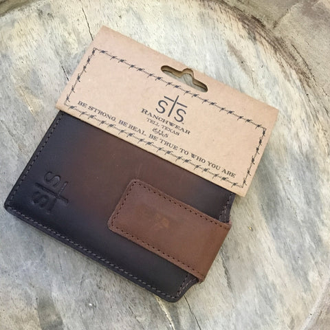 STS Foreman's Leather Money Clip Wallet