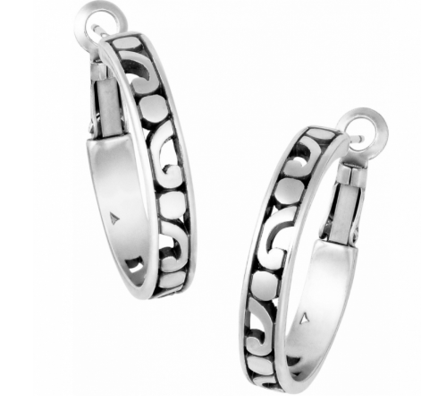 Brighton Hoop Silver Earrings