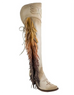Junk Gypsy by Lane Animal Spirit Over the Knee Boot- Creamy Bone JG0040A