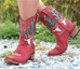 Junk Gypsy by Lane Bramble Rose Red Boots JG0015D