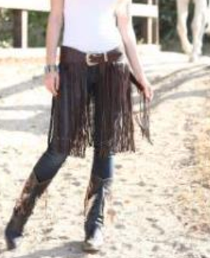 Kobler Leather Fringe Belt-Black or Brown