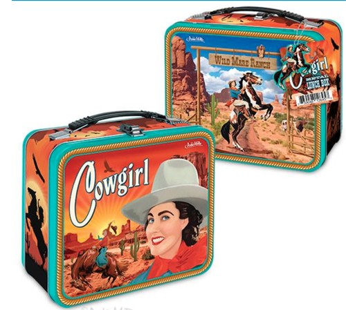 Archie McPhee Cowgirl Lunchbox