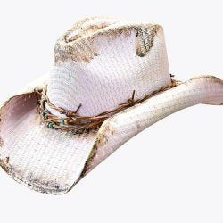 Dallas Hats Maryann Pink Painted Straw Hat