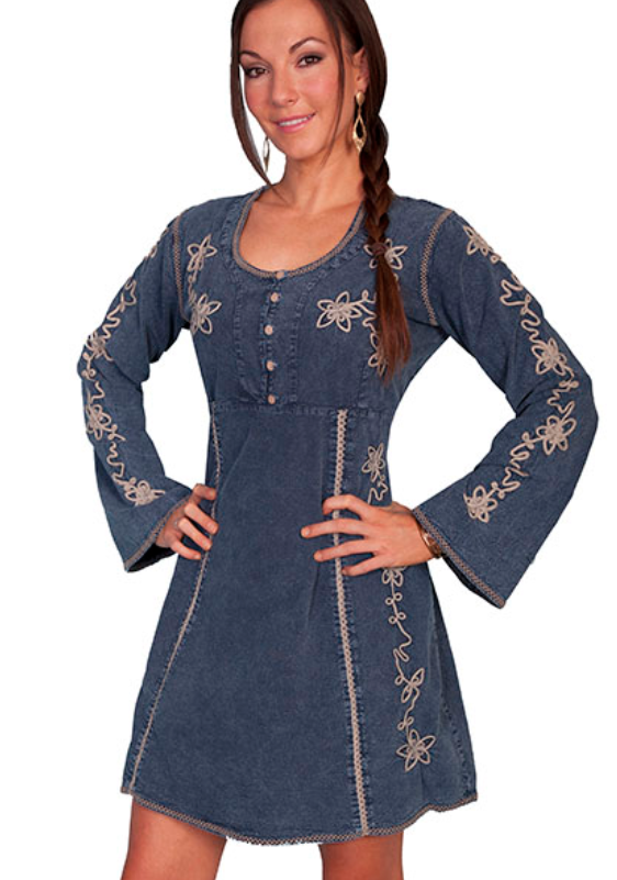 Scully Peruvian Cotton Long Sleeve Dress PSL105