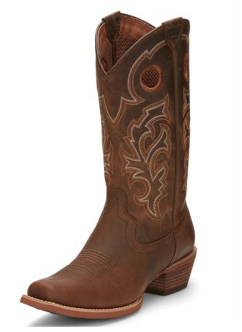 Justin Puncher Brown Men's Cowboy Boot
