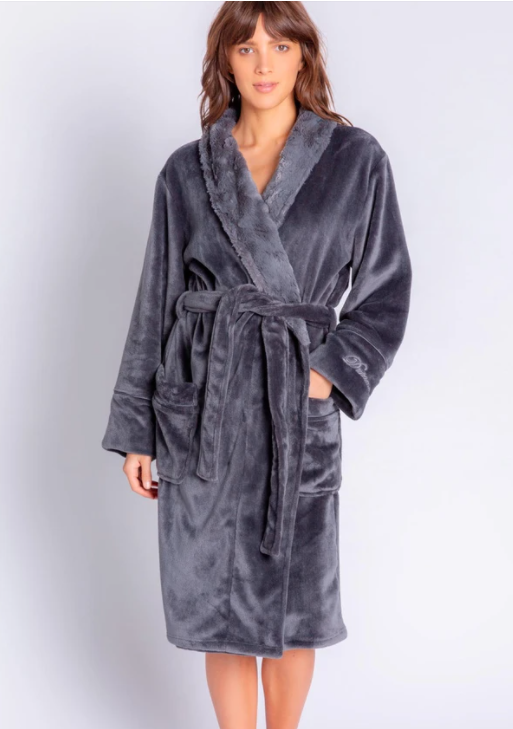 PJ Salvage Luxurious  Duster Robe Blush Pink