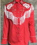 Rockmount Ranchwear Women's Embroidered Fringe Western Shirt 7723