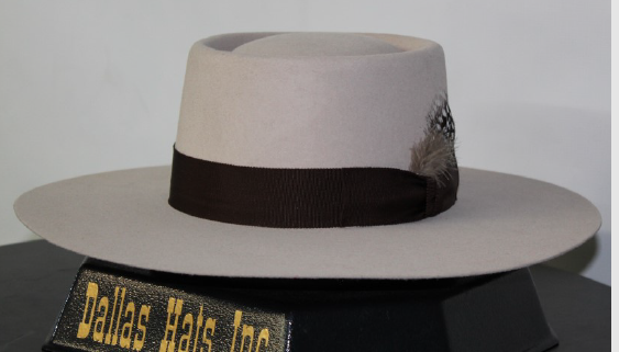 Dallas Sand Color Gambler Felt Hat