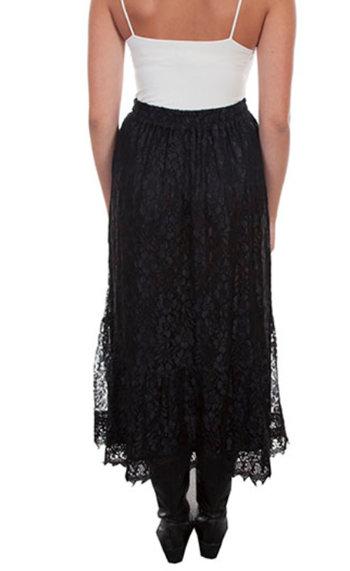 Scully Honey Creek Women's Black Lace Skirt HC481