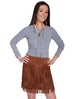 Scully Women's Leather Fringe Skirt L704