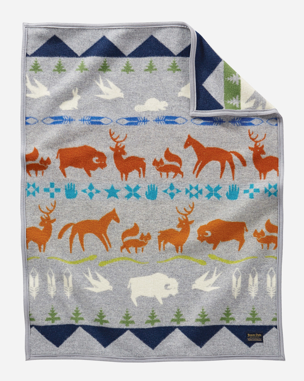 Pendleton Shared Paths Grey Mix Muchacho Blanket
