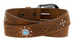 Justin Women's Squaw Creek Brown Leather Belt C21499