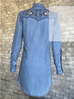 Rockmount Ranchwear Flying Swallows Denim Dress with Embroidery