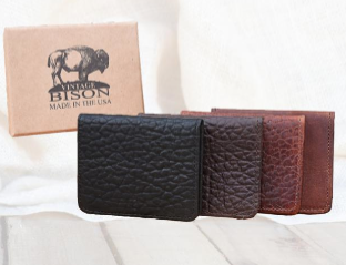 Vintage Bison Tucson Credit Card Holder