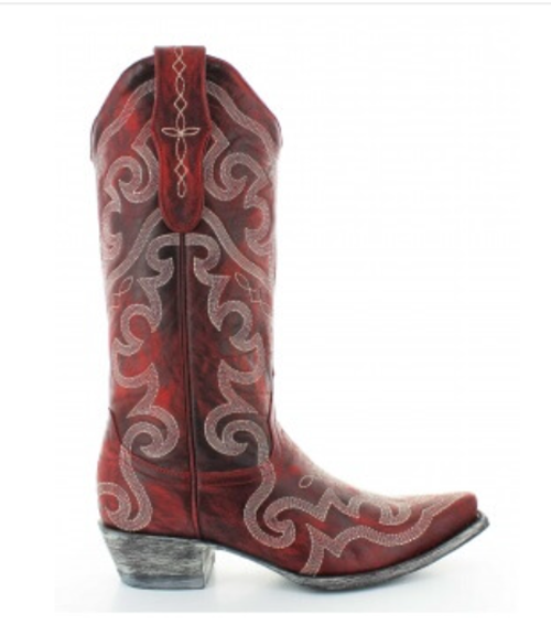 Old Gringo Yippee Ki Yay Vittoria Stitched Vesuvio Red Cowboy Boot - YL277-7