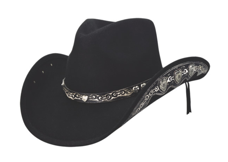 Dallas Hats Women's Black Felt Wedding Hat