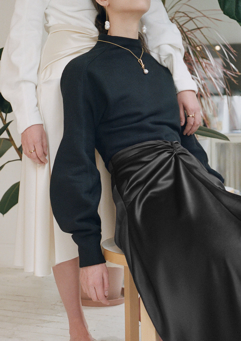 Carmen satin skirt