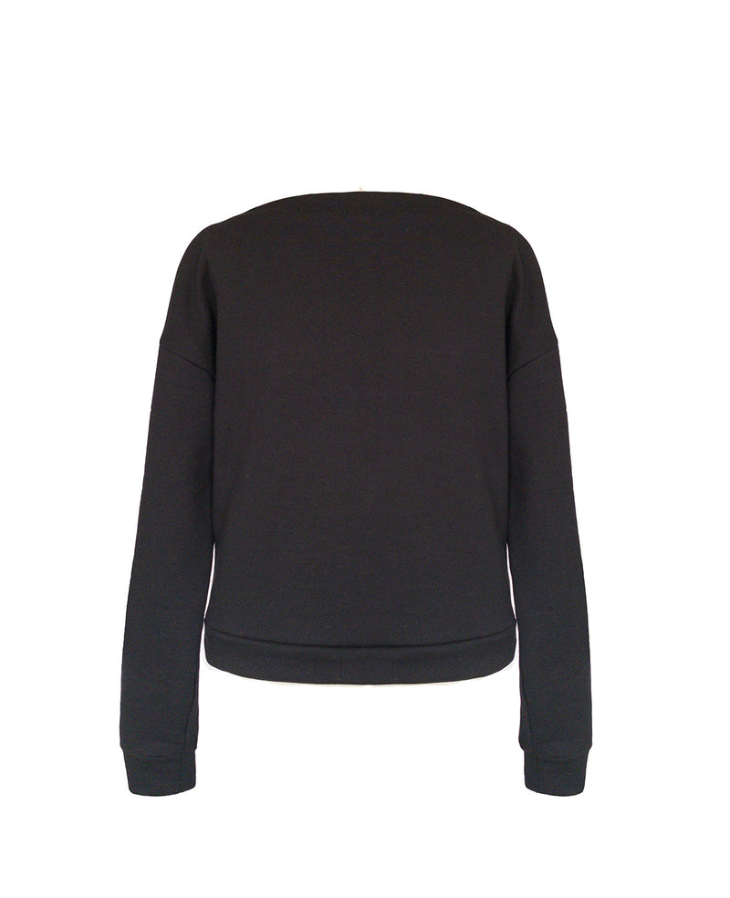 Moa Draped Sweatshirt