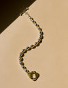 Riley Oval Chain Bracelet with chain end