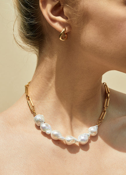 Opera Six Pearl Chain Necklace