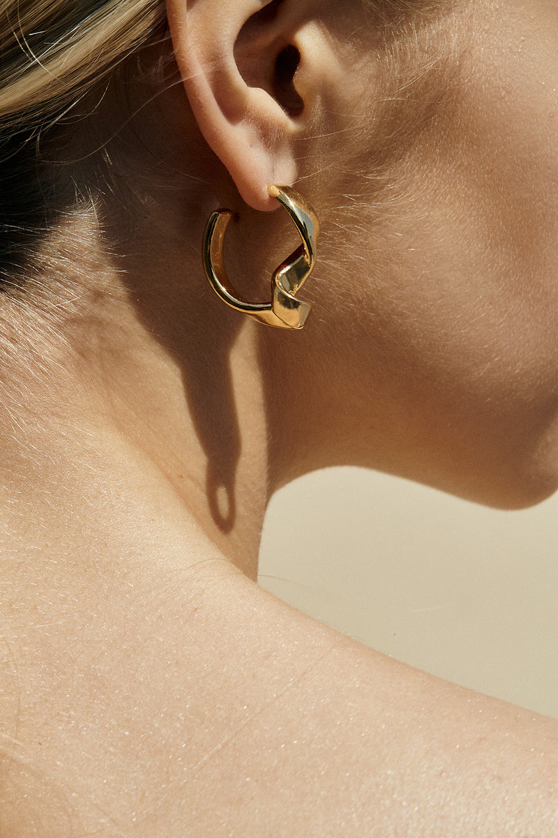 Laura Twisted Hoop Earrings