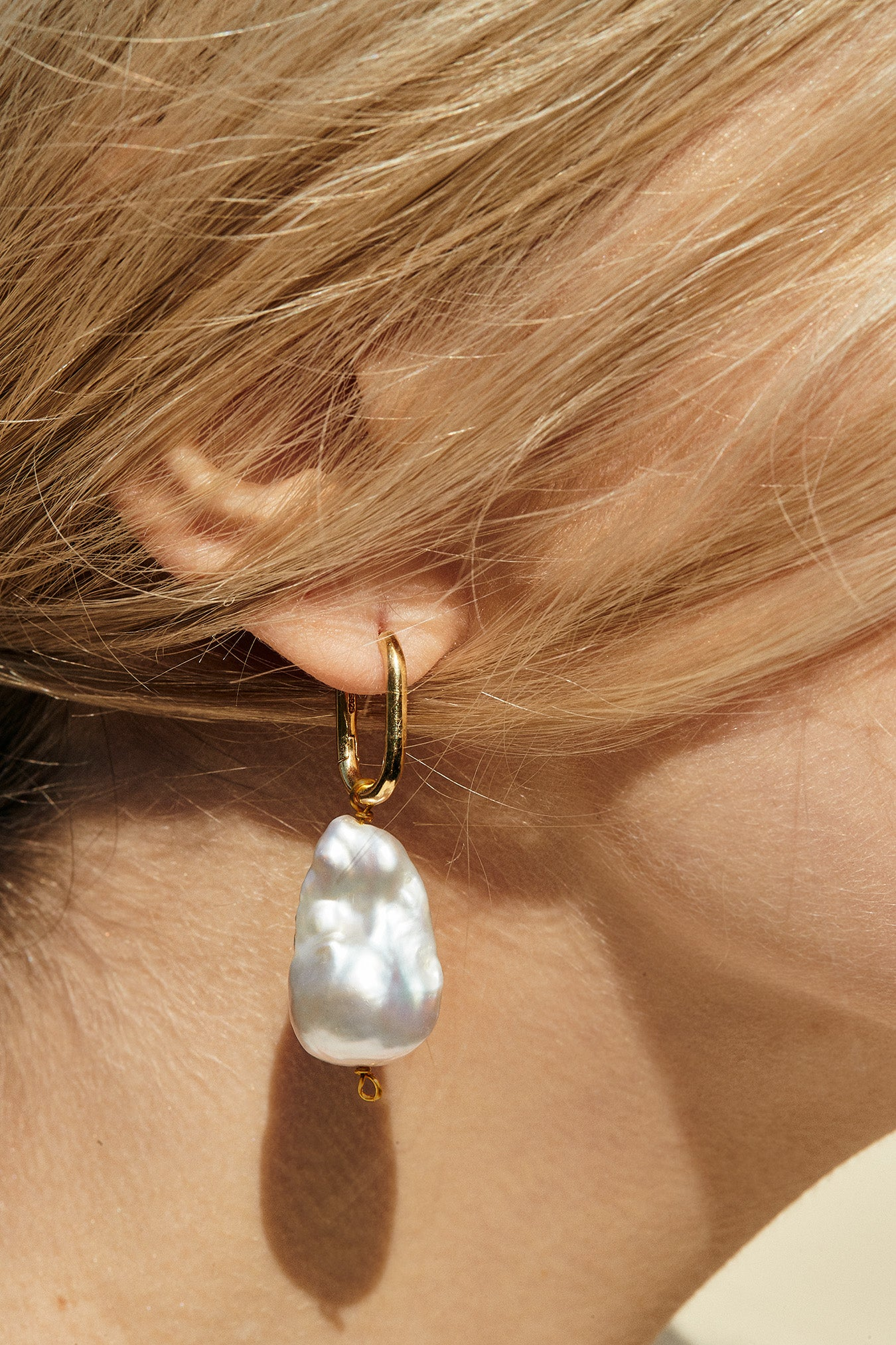 Taylor Large Baroque Pearl Earrings