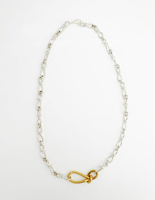 Leah_small knot multi color necklace