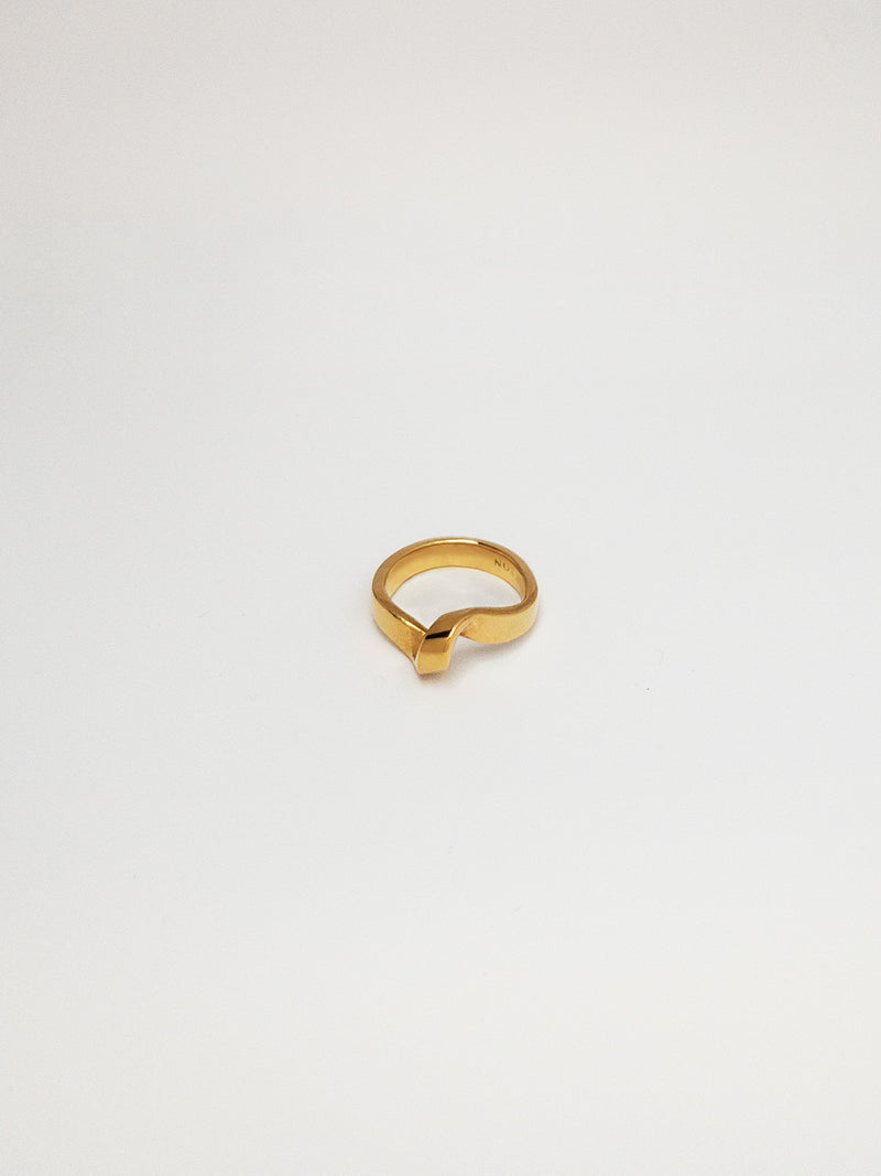 Laura twisted gold vermeil ring
