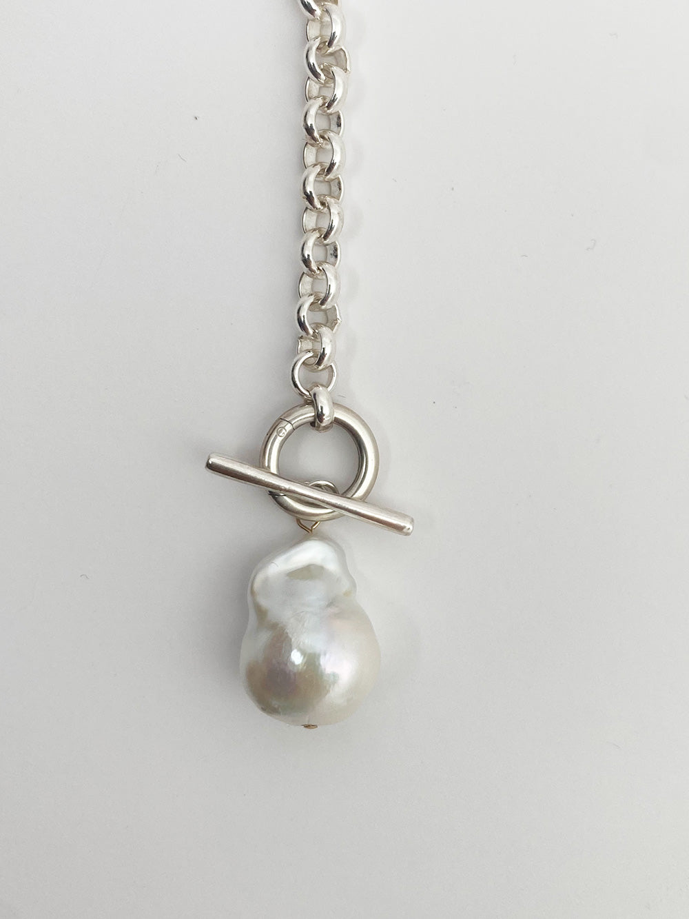 Baroque pearl removable pendant chain necklace