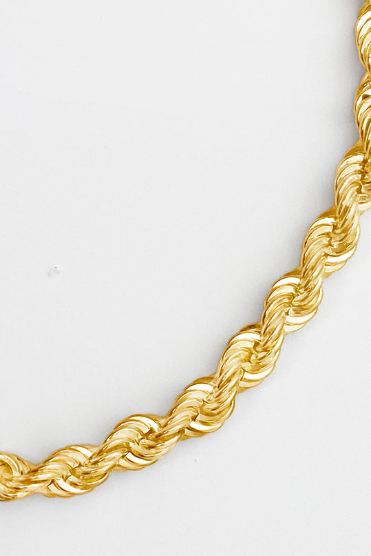 Ava handcrafted twisted rope necklace