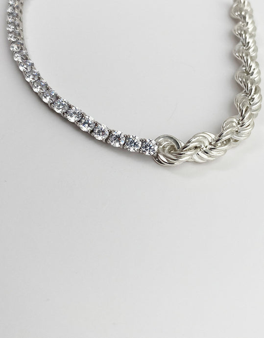 Ava rope chain with crystal bracelet