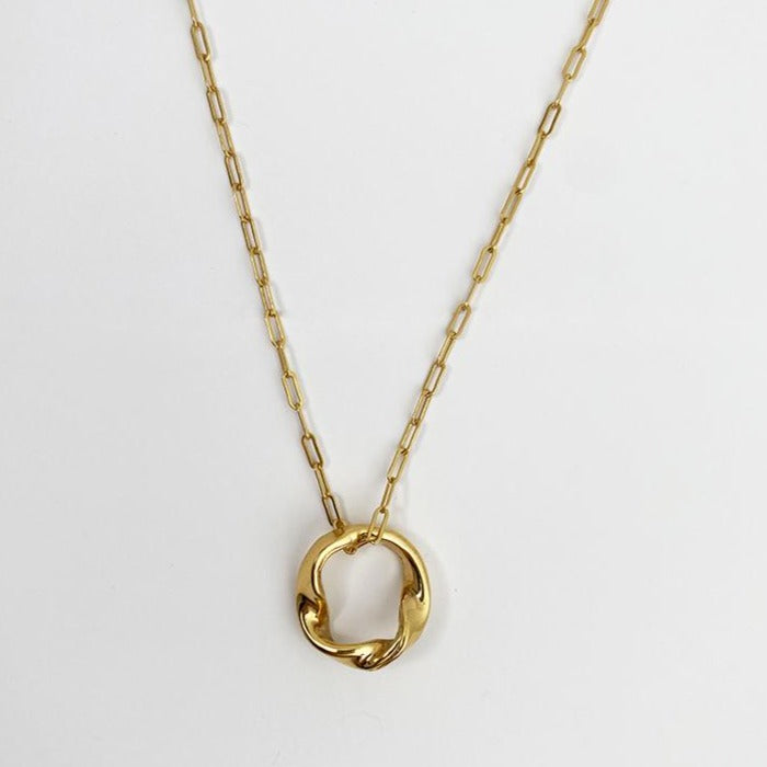 Alexandra twisted ring necklace