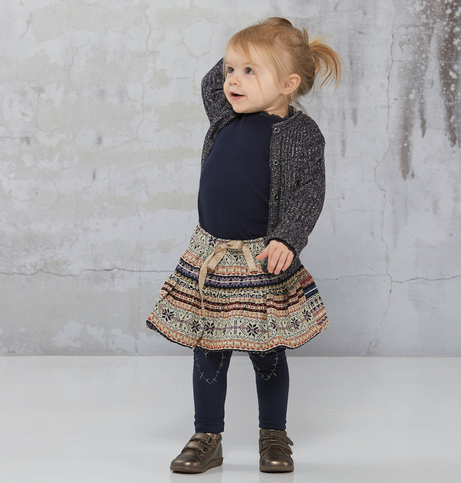 Vestje Knit Blue gold mini