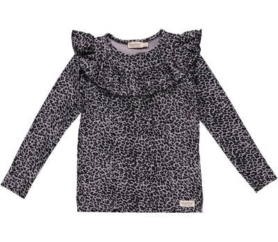 Top Leopard Grey