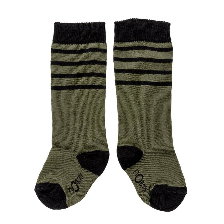 Socks stripes dark green
