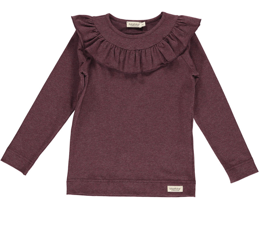 Top Dark Plum Melange