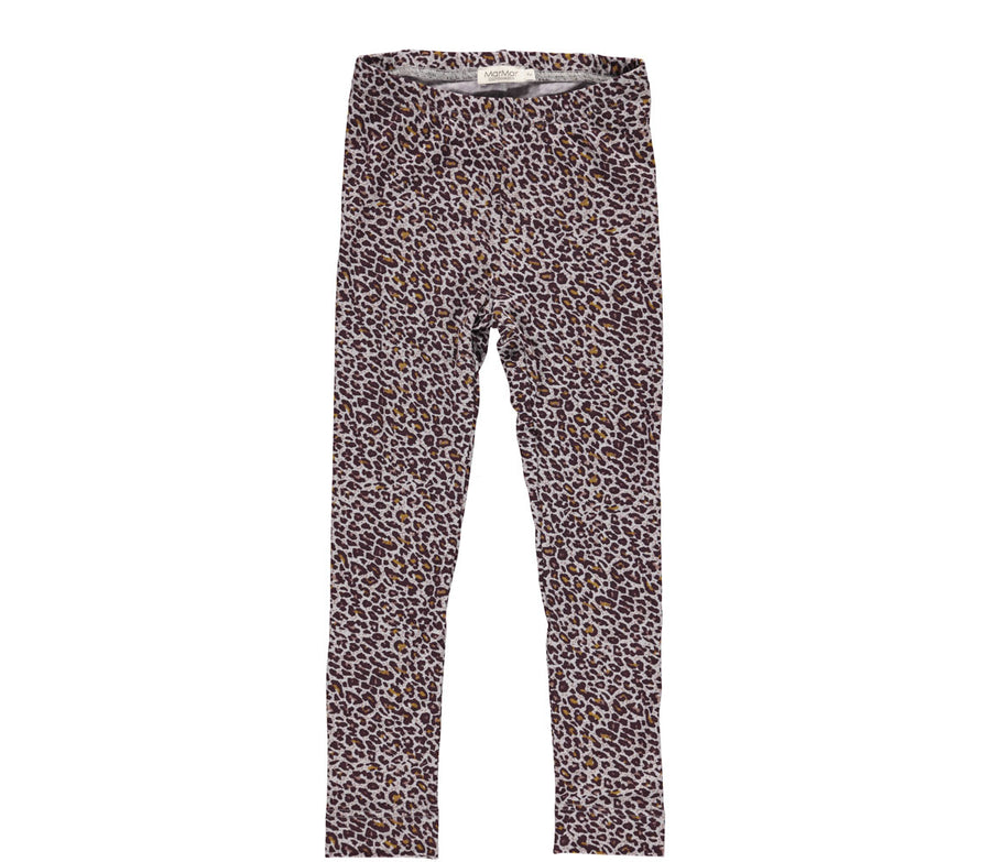 Legging Leopard Dark Plum