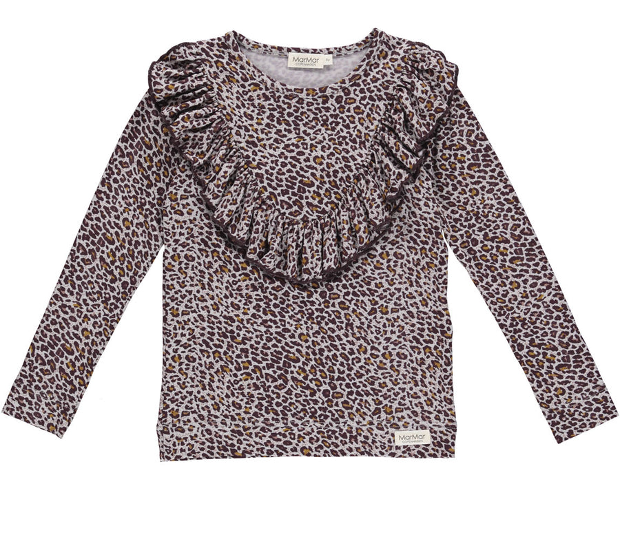 Top Leopard Dark Plum