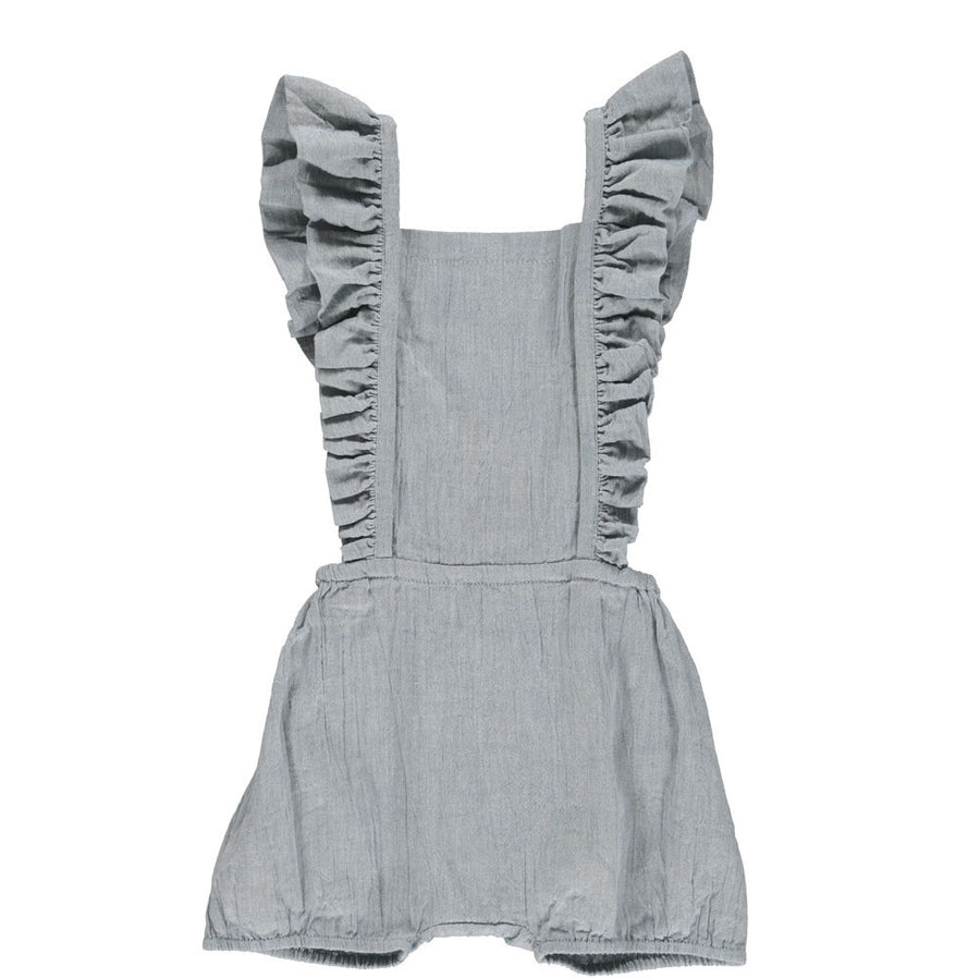 Dungaree Short Moondust Blue