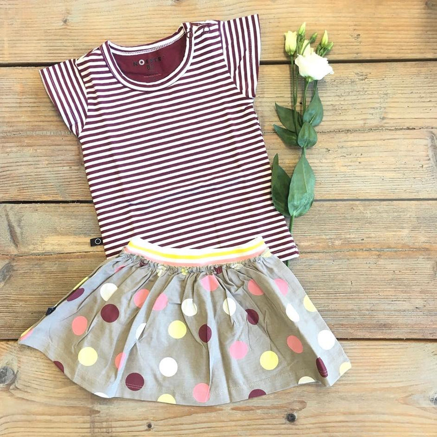 Ted t-shirt frill stripe red
